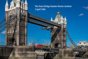 Artist Reconstructs The Tower Bridge Hawker Hunter Incident
